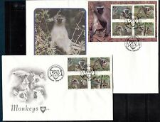 MONKEYS  VENDA SOUTH AFRICA 1994 Sc 273-276a - 2 FDC'S