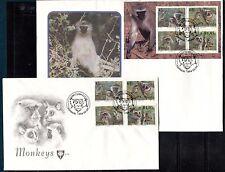 MONKEYS  VENDA SOUTH AFRICA 1994 Sc 273-276a - 2 FDC'S