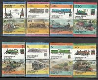 San Vincent-Grenadines - Mail Yvert 335/50 MNH Trains