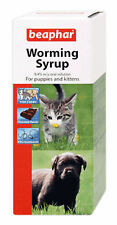 Puppies Kittens Worming Syrup Roundworm 45ml kills Beaphar