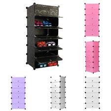 Durable Interlocking DIY Cube Plastic Storage Shoe Bookcase Clothing Wardrobe