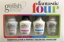 Harmony Gelish FANTASTIC FOUR - BASE + TOP + pH Bond + NOURISH Oil 0.5oz