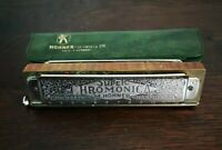 Harmonica HOHNER Super Chromonica 270 Germany Key Of C 12 Trous Dans Sa Housse