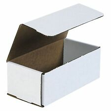 50- 8x4x3 White Corrugated Carton Cardboard Packaging Shipping Mailing Box Boxes