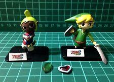 Yujin The Legend of Zelda Phantom Hourglass figure gashapon - Tetra and Link