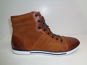 Kenneth Cole Size 8 M BASE DOWN LOW Rust Leather Fashion Sneakers New Mens Shoes
