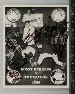 Sonny Burgess & Il Pacers Autografo Firmato 8x10 B&w Promozionale Promo Foto Tob