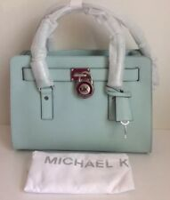 NWT!Michael Kors Hamilton Saffiano Leather Medium Satchel In Celadon $298(sale)