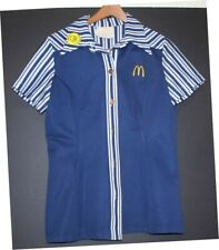 Vintage 1976 McDonald's Blue Women's Uniform- Sz 8 - NO RSRV