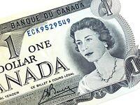 1973 Canada One Dollar ECK Prefix Uncirculated Elizabeth Canadian Banknote L361