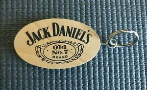 JACK DANIELS 1920 OLD No. 7 Wooden Key Ring Tag Fob Factory Sealed