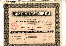 Action Union Minière Indochinoise 1928