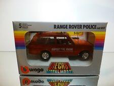BBURAGO 0125 RANGE ROVER AIRPORT FIRE ENGINE - RED 1:24 - GOOD IN BOX