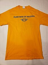 Mens Mini Cooper Flow Raleigh Good Condition Yellow T-Shirt Size Small Cotton