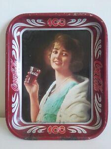 Coca Cola, vassoio portabibite celebrativo Centenario 1886 - 1986 ,da collezione