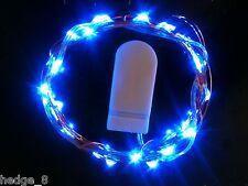 30 LED BLUE CR2032 Battery CW String Lights 3m - UK Seller/Stock
