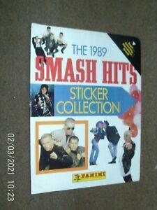 Panini Smash Hits Collection Sticker Album 1989 EMPTY NO stickers!