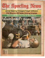 The Sporting News Newspaper October 3, 1981 No.1 Goes Down Irish's Tim Koegel G
