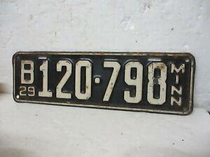 VINTAGE 1929 MINNESOTA LICENSE PLATE (B120-798)