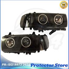 Toyota Landcruiser 80 Series Angel Eyes Projector HeadLights LED DRLs BLACK