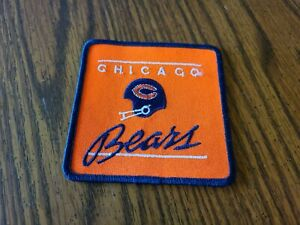 VTG CHICAGO BEARS SEW ON PATCH 4 X 4 SQUARE NEW