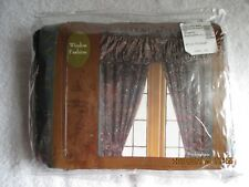 "Linens & Textiles Vintage Jc Penney Buckingham 2 Panel 84"" Drapes Curtain NewBag"
