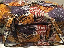 Vera Bradley PAINTED FEATHERS LARGE DUFFEL Travel Bag Weekend Tote Bag New 15460