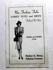 1940 Fashion Catalog of Ladies Suits and Coats Herbert Strong Taylor Company