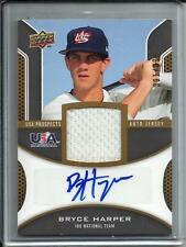 Bryce Harper 2009 Upper Deck USA Autograph Game Used Jersey #391/399