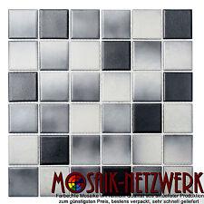 Mosaik grau anthrazit Keramikmosaik rutschhemmend Boden Art: 16-2211-R10|1 Bogen