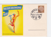 Germany  1939 Berlin  Day of the stamp special cancel stamps card  R21043