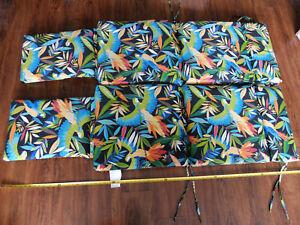 Blazing Needles Steamer Deck Outdoor Lounger Cushion, Tucuman Ebony (2 pack)
