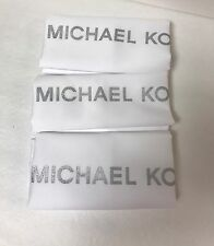3 New Michael Kors MK Drawstring Dust Bag Purse Handbag 18 X 18 White
