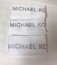 3 New Michael Kors MK Drawstring Dust Bag Purse Handbag 14-1/2X15White