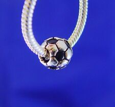 Soccer Ball Football Team Sports Silver European Charm Bead fit for bracelet