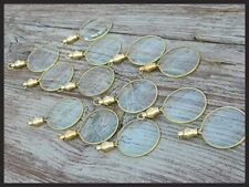 Lot Of 50 Pcs Brass Magnifier Locket Necklace Style Magnifying Glass