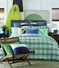 TOMMY HILFIGER Georgetown PLAID Blue Purple Green TWIN COMFORTER SET