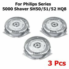 3x Series 5000 SH50 SH50/51 HQ8 Replacement Shaver Blades Head Set For Philips