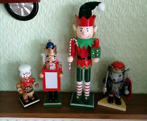 Mouse King, Elf, Soldier & Gingerbread Nutcrackers