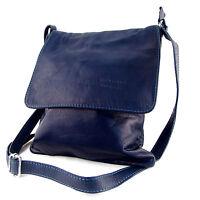Echt Leder  Tasche Handtasche Umhängetasche Schultertasche blau MC102936