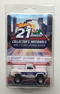 2021 Hot Wheels 21st Nationals Convention 1983 Chevy Silverado 4x4~ Free Ship!