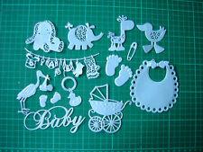 PARAURTI Set di perlescenti Baby Boy Die Cut Card Toppers