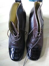 old valiens ladies quality brown leather boots size 5 retro/vintage 1940 style