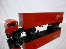 LION CAR 69 + 36DAF 2100 TRUCK + TRAILER - PTT POST - RED 1:50 - GOOD CONDITION