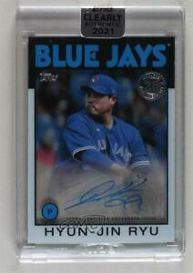 2021 Clearly Authentic 1986 Topps Baseball Hyun-Jin Ryu #86TBA-HR Auto