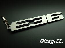 "Schlüsselanhänger BMW ""E36"" 320i 325i 328i 323ti M3 S50 - Edelstahl GEBÜRSTET!"