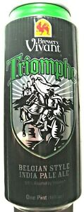 Vivant Triomphe Belgium 2013 IPA Beer Can 16oz Grand Rapids MI empty Bottom Open