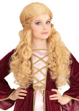 Childrens Size Blonde Medieval Wench Wig