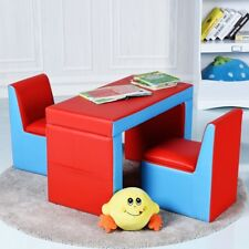 Kids Children PVC Leather Sofa Couch Recliner Table Chair Set Bedroom Furniture