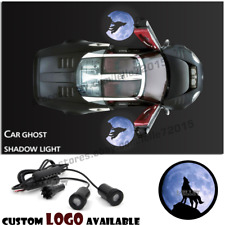 Car Door The Blue Moon Wolf Logo Welcome Laser Projector Ghost Shadow LED Light